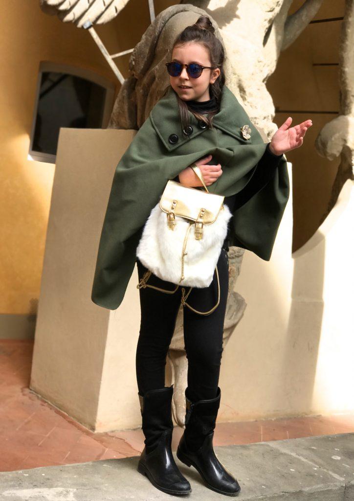 kids fashion blog wearing cape